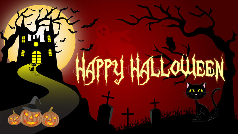 Обои хеллоуина иллюстрация штока
