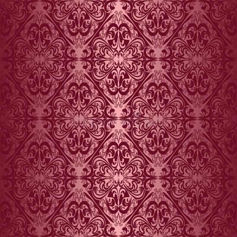 Обои шикарного красного вина безшовные иллюстрация вектора