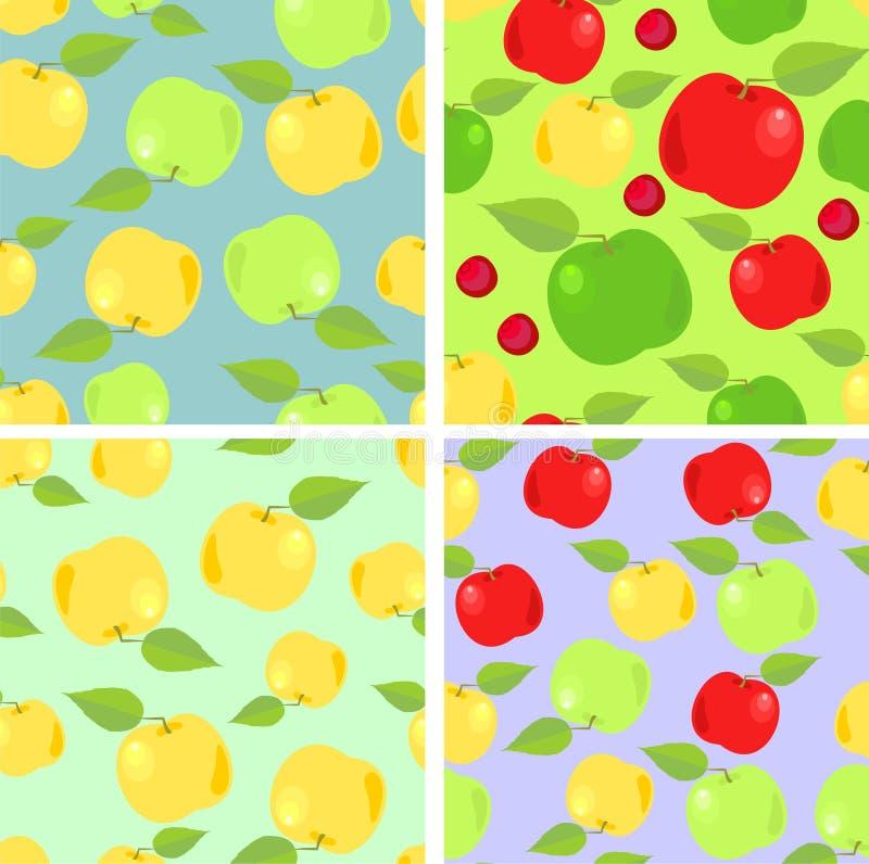 обои яблок цветастые иллюстрация вектора
