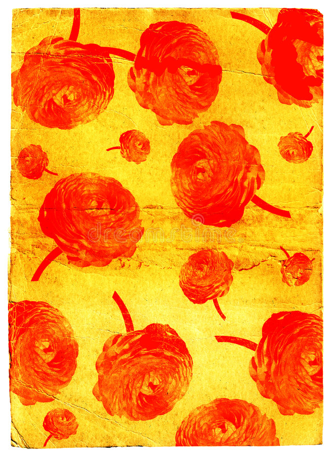 обои grunge цветка иллюстрация штока