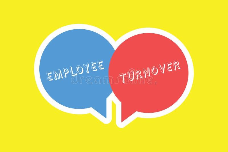 Оборачиваемость работника текста почерка Номер смысла концепции или процент работников которые выходят организация иллюстрация штока