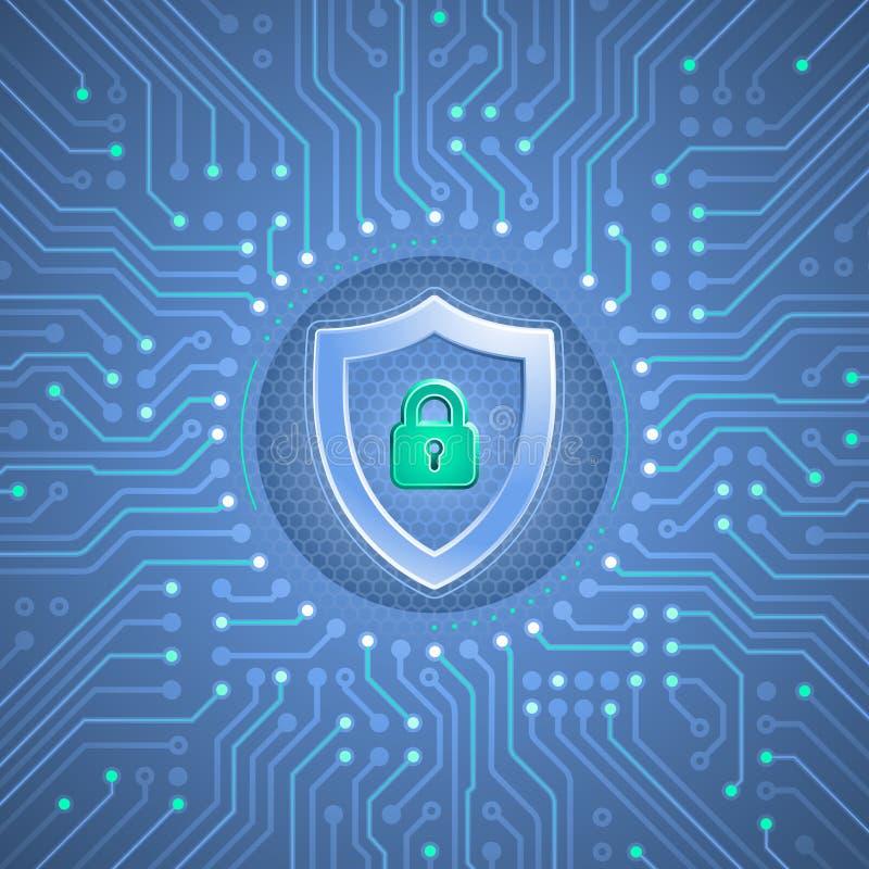 Оборона кибер бесплатная иллюстрация