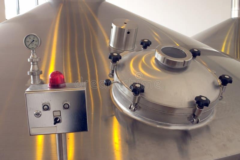 оборудование винзавода стоковое изображение