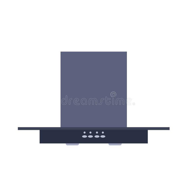 Оборудование вытыхания дизайна значка вектора прибора клобука кухни Фильтр экстрактора вентилятора воздуха плитаа Комната дыма ве иллюстрация вектора