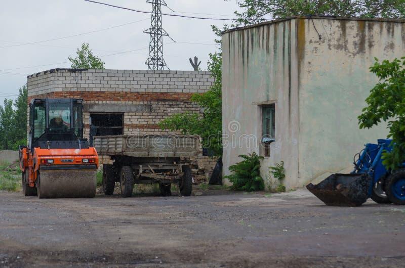 Оборудование дороги на открытом воздухе во дворе стоковая фотография rf