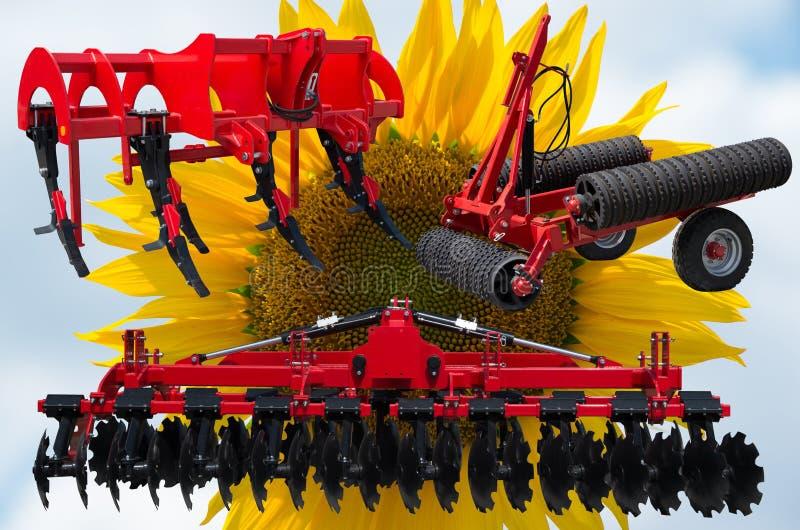 Оборудование и инструменты трактора стоковое изображение