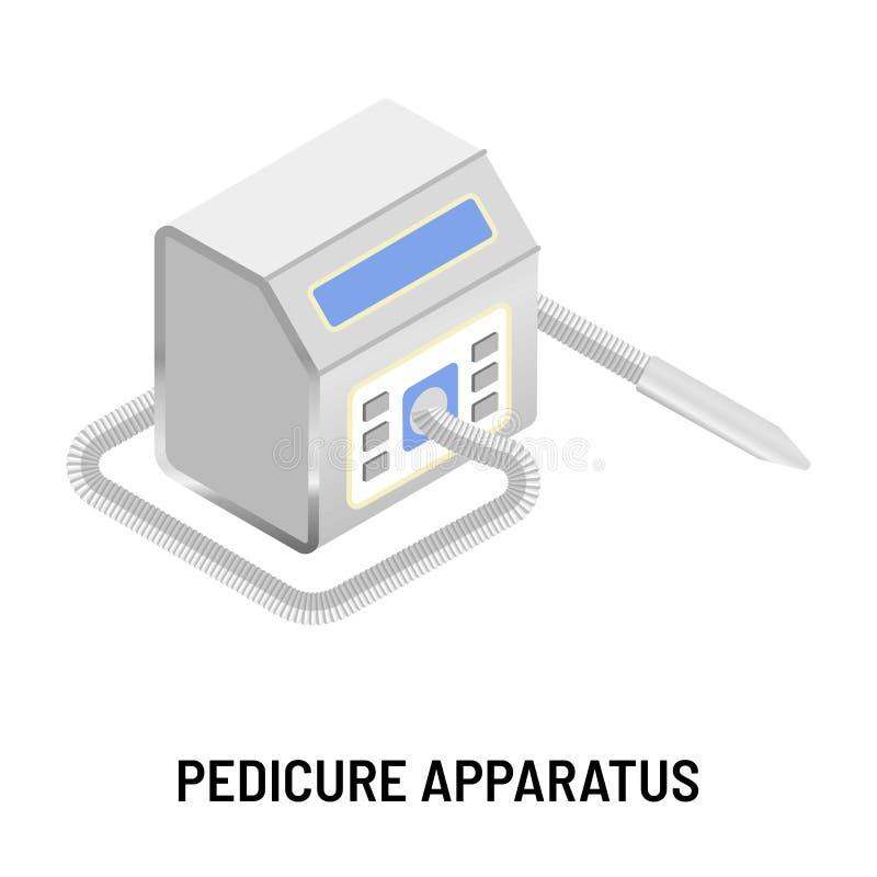 Оборудование салона красоты прибора Pedicure изолированное прибором электрическое иллюстрация вектора