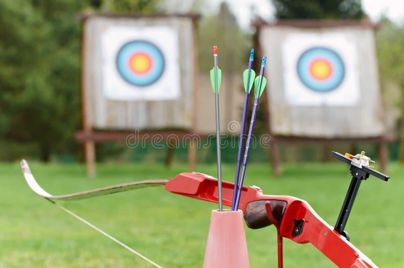 оборудование смычка стрелок archery стоковая фотография