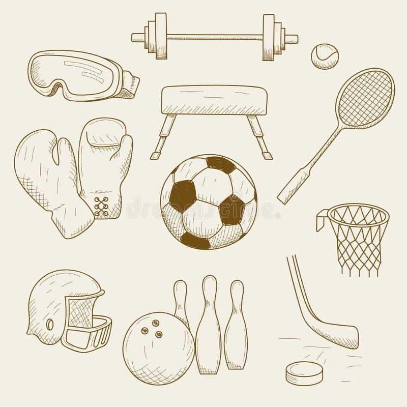 рисунок спортивные принадлежности карандашом богато