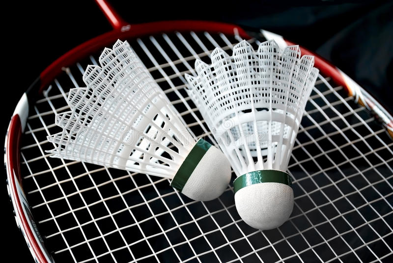Оборудование Badminton стоковое фото rf