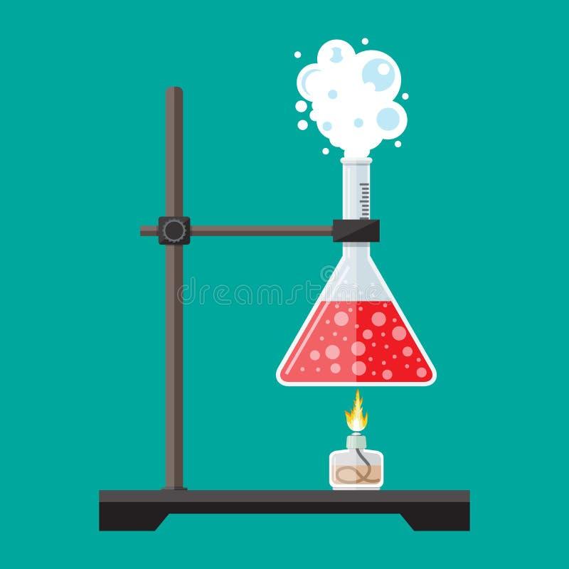 Оборудование образования науки биологии иллюстрация штока