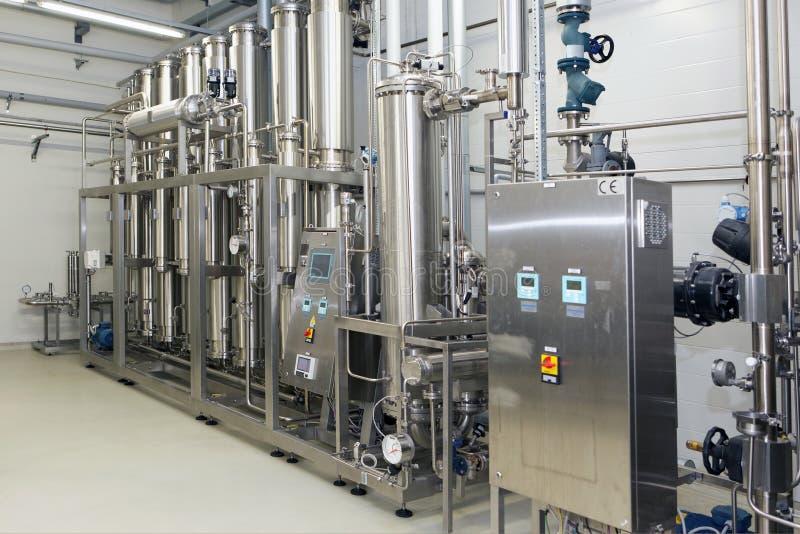 Оборудование очистки воды на заводе Solopharm стоковое фото