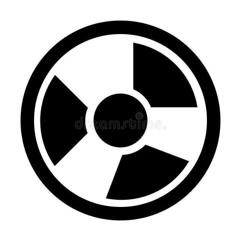 Оборудование промышленной безопасностью изолировало значок в черно-белом c иллюстрация вектора