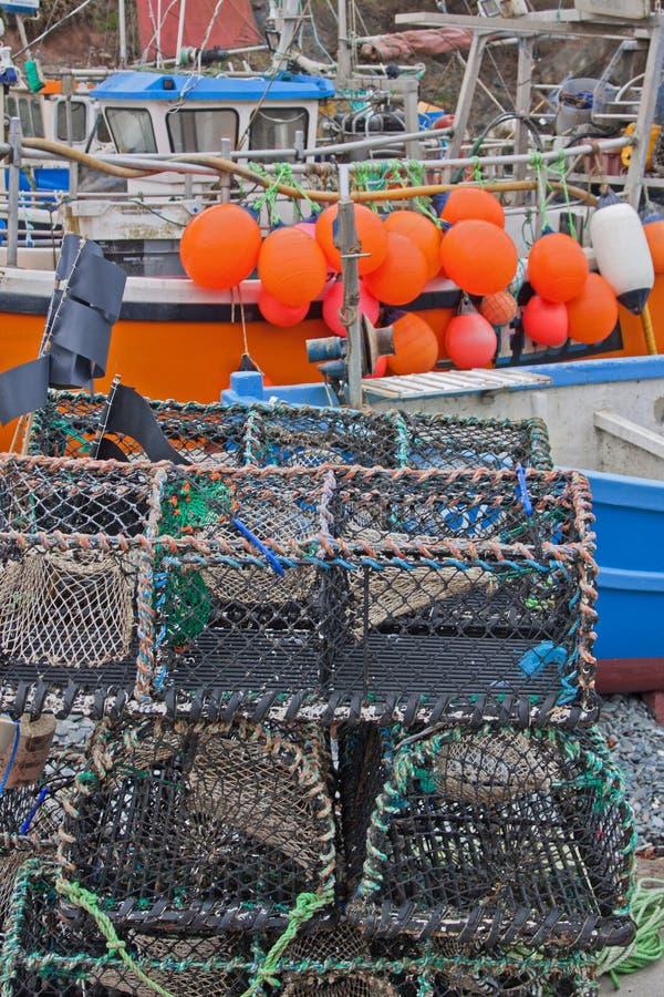 Оборудование рыбозаводов на борту стоковое изображение rf