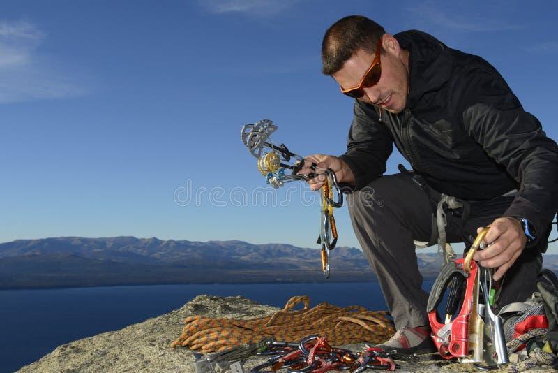 Оборудование скалолазания стоковые фото