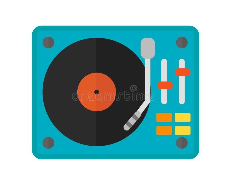 Оборудование смесителя музыки Dj направляет иллюстрацию вектора ночного клуба партии технологии discotheque смешивая иллюстрация штока