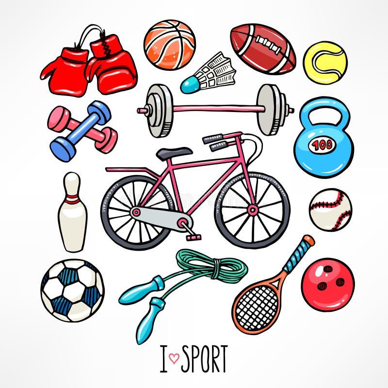 спортивный инвентарь картинка рисунок для девочек нашей