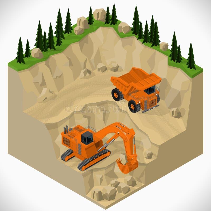 Оборудование для индустрии высоко-минирования иллюстрация штока