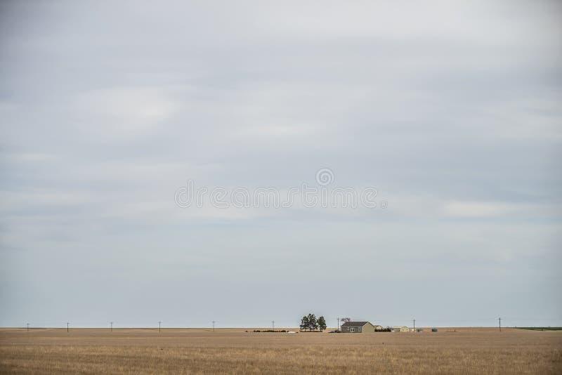 Обрабатываемая земля весны раньше на пасмурный день стоковые фотографии rf