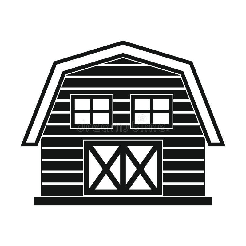 Обрабатывайте землю дом в черном простом стиле изолированный на белой предпосылке бесплатная иллюстрация
