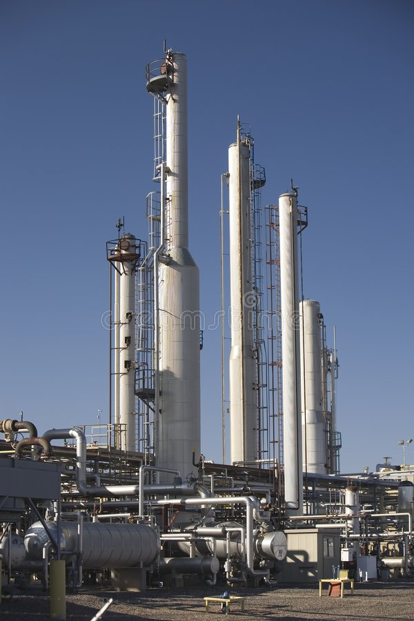 обрабатывать завода газа естественный стоковые фотографии rf