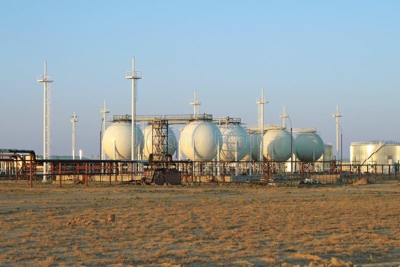 обрабатывать завода газа стоковое фото rf