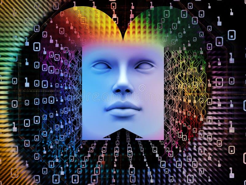 Обрабатывать супер человека AI иллюстрация вектора