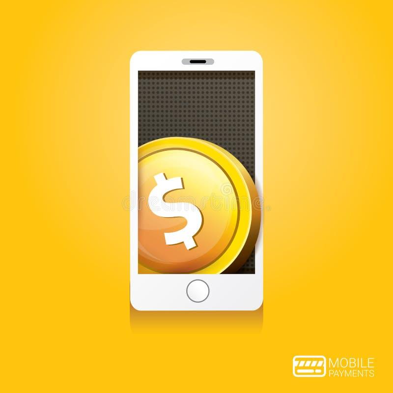 Обрабатывать Flsmartphone передвижных оплат бесплатная иллюстрация