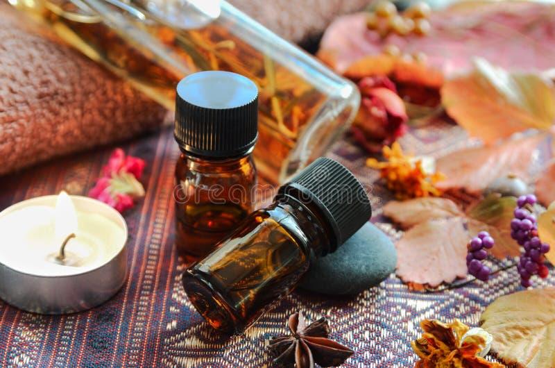 Обработка ароматерапии для заботы кожи стоковое изображение