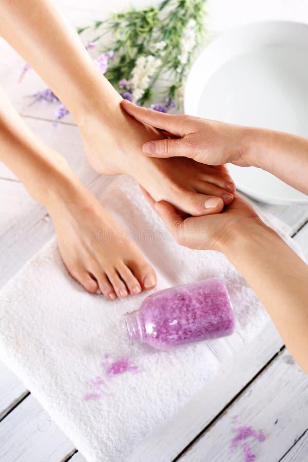 Обработки заботы ноги стоковые изображения rf