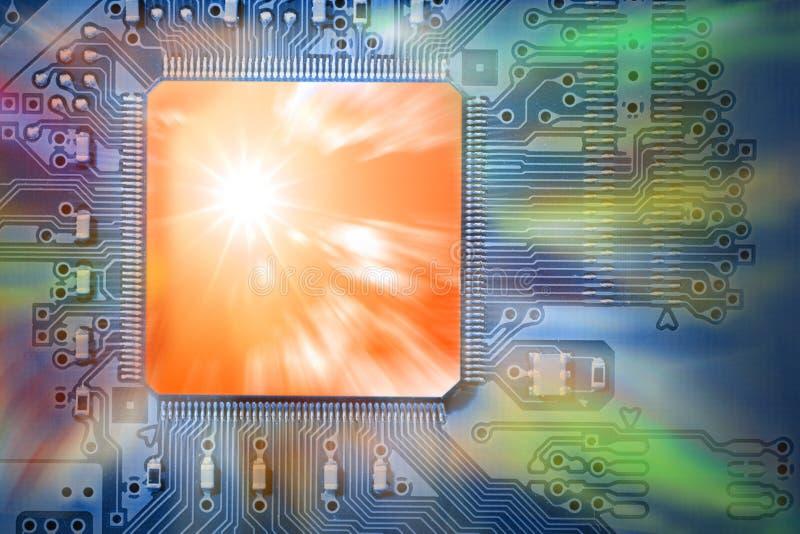 обработчик C.P.U. принципиальной схемы компьютера быстрый мощный стоковая фотография rf