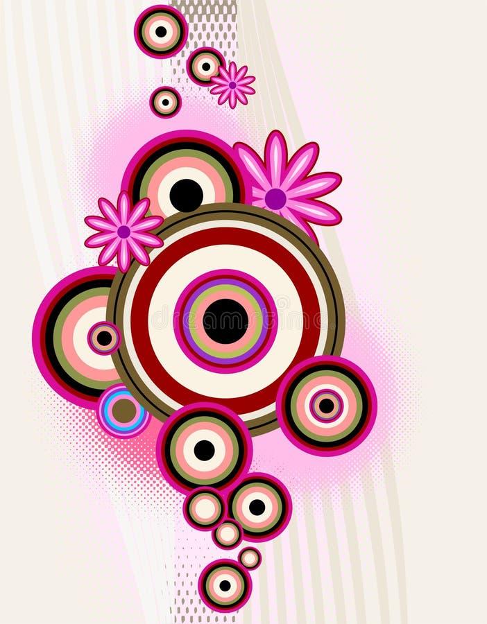 образец круга ретро иллюстрация вектора