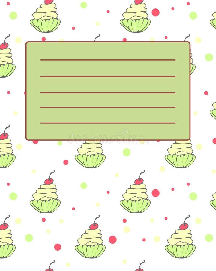 Образец приглашения открытки крышки тетради школы иллюстрация вектора