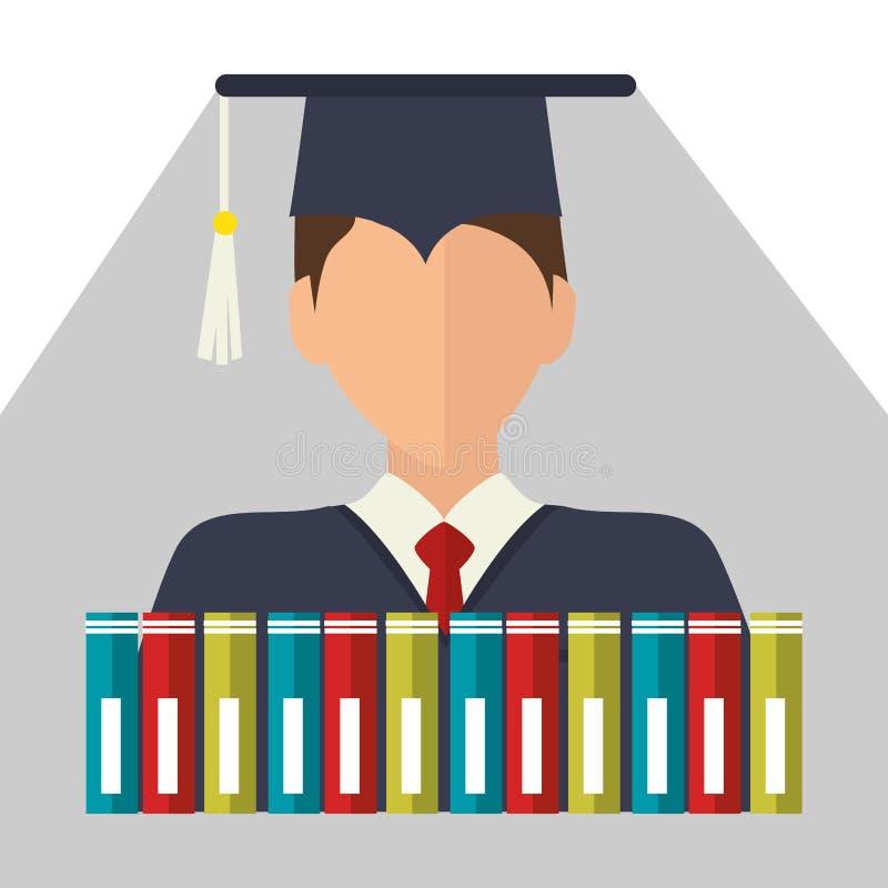 Образование, градация и академичный trainning иллюстрация штока