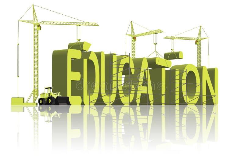 образование здания идет знание учит школу к иллюстрация вектора