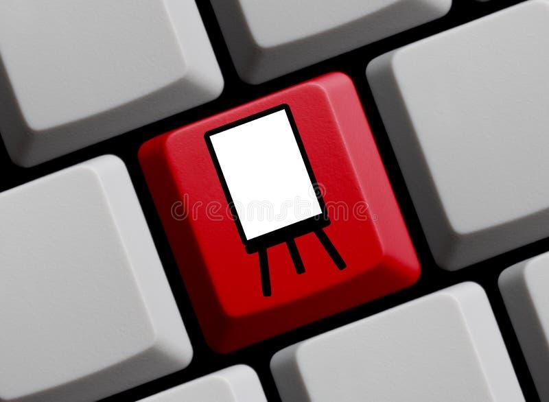 Образование или представление онлайн стоковая фотография rf