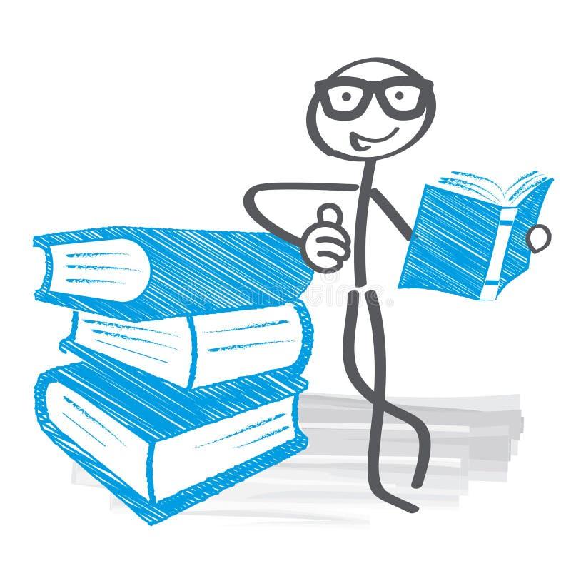 Образование исследование студента в школьной библиотеке бесплатная иллюстрация