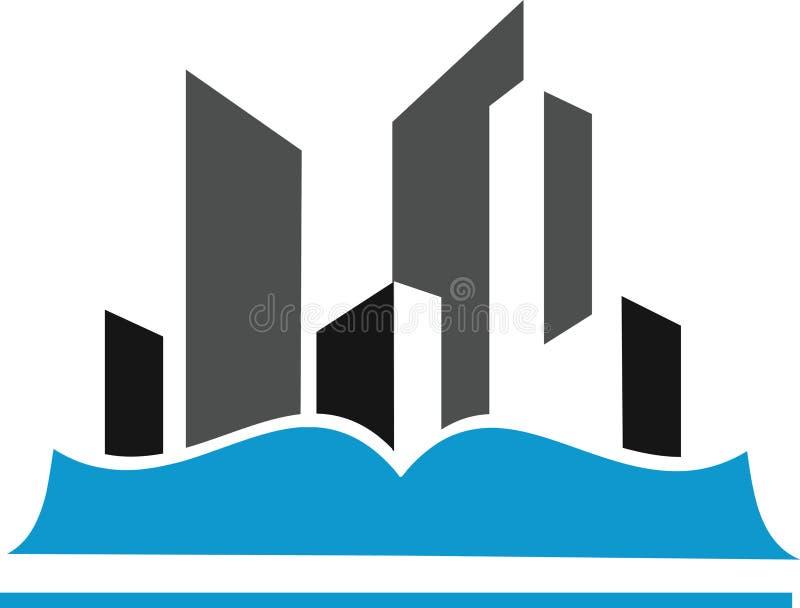 Образование и городское иллюстрация вектора