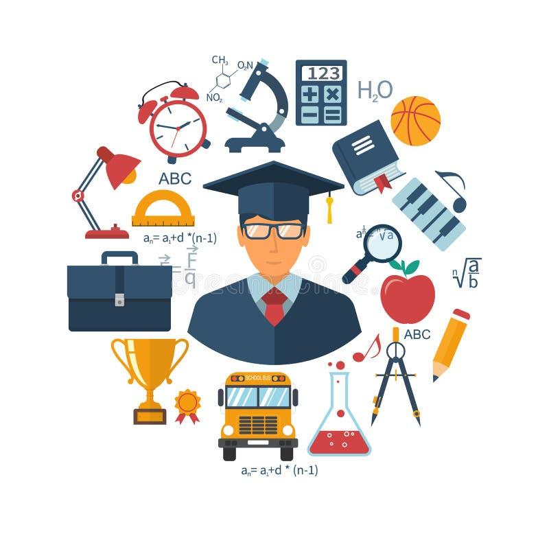 Образование и концепции учить бесплатная иллюстрация
