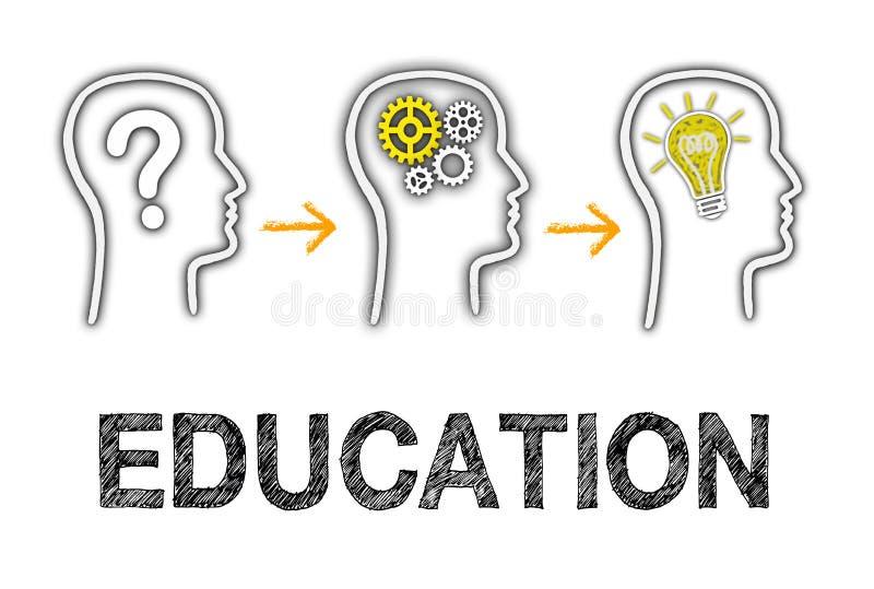 Образование и отличные идеи иллюстрация штока