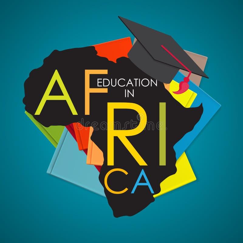 Образование коммерческой школы в иллюстрации вектора концепции Африки иллюстрация вектора