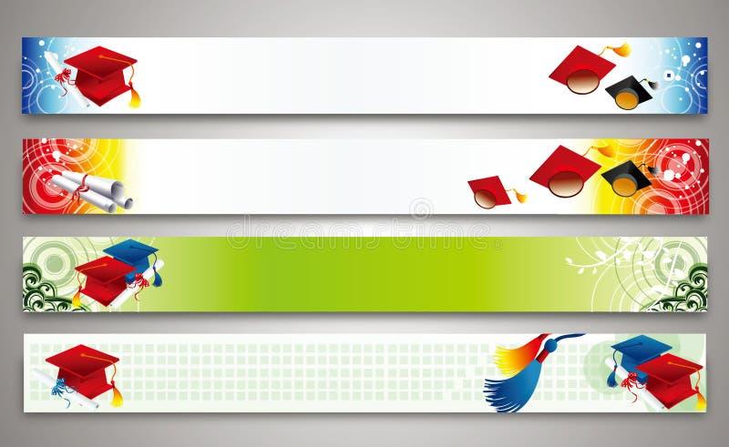 Образование - комплект знамен иллюстрация вектора