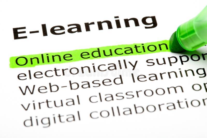 образование он-лайн стоковое фото