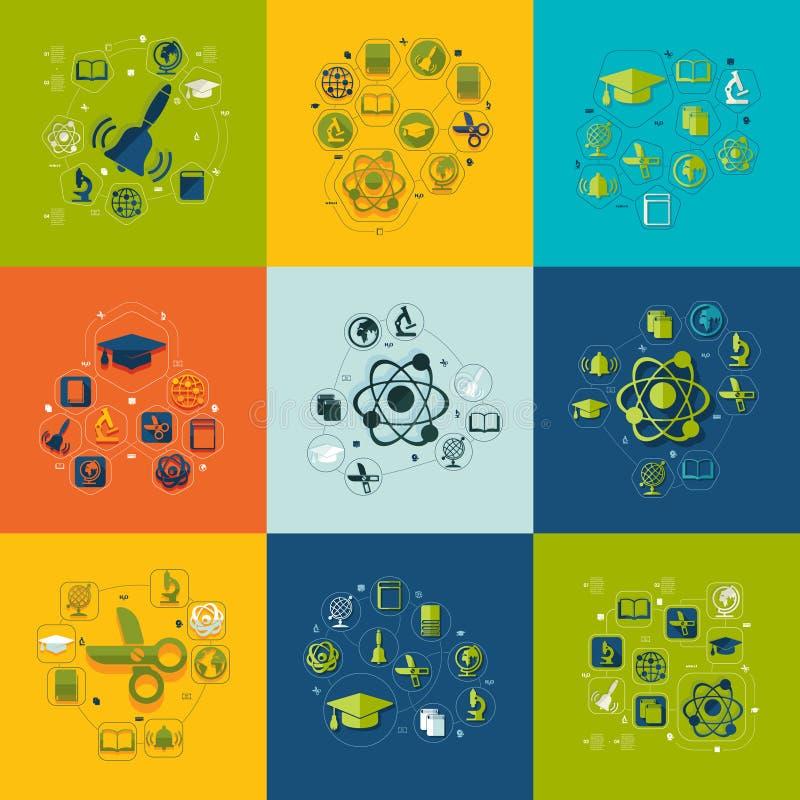 Образование плоско infographic иллюстрация вектора