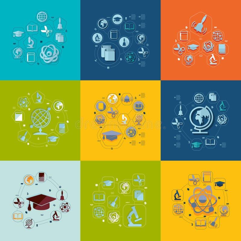 Образование плоско infographic бесплатная иллюстрация