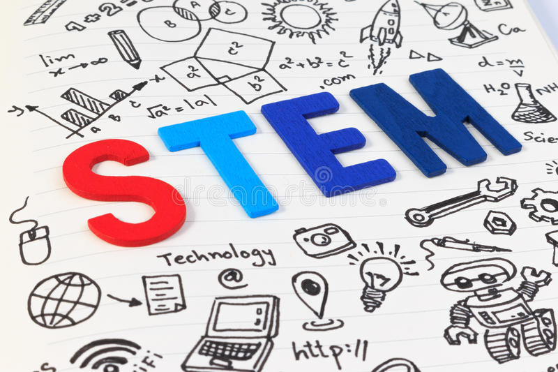 Образование СТЕРЖНЯ Математика инженерства технологии науки стоковое фото rf