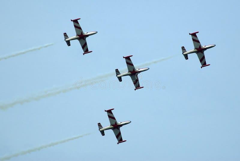 образование штурма 4 самолетов стоковая фотография rf