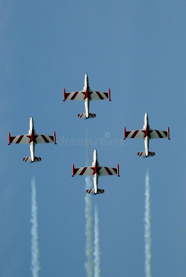 образование штурма 5 самолетов стоковые изображения