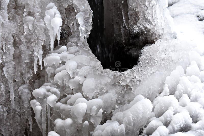 Образования водопада зимы стоковое изображение rf