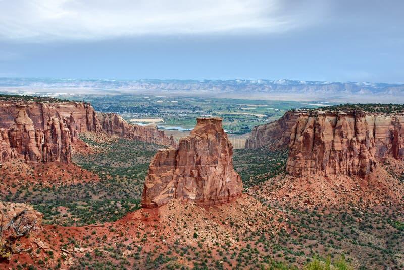 Образования песчаника в национальном монументе Колорадо стоковое изображение rf